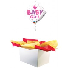 "Baby Girl Diamond 18"" Foil Balloon"