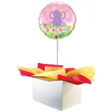 "Baby Girl Elephant 18"" Foil Balloon"
