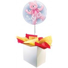 "Baby Girl 24"" Double Bubble Balloon"