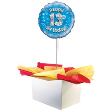 "13th Birthday Boy 18"" Foil Balloon"