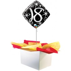 "18th Birthday Black 18"" Foil Balloon"
