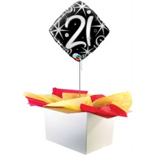 "21st Birthday Black 18"" Foil Balloon"