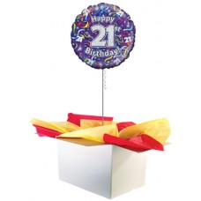 "21st Birthday Multi Colour 18"" Foil Balloon"