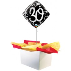 "30th Birthday Black 18"" Foil Balloon"