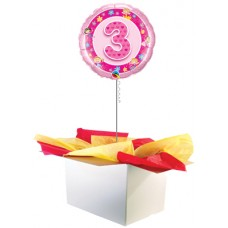"3rd Birthday Girl 18"" Foil Balloon"