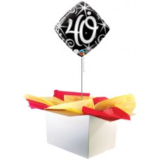 "40th Birthday Black 18"" Foil Balloon"