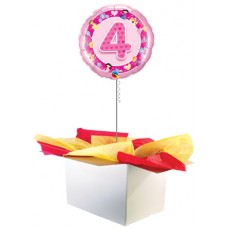 "4th Birthday Girl 18"" Foil Balloon"