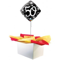 "50th Birthday Black 18"" Foil Balloon"