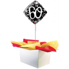 "60th Birthday Black 18"" Foil Balloon"