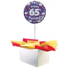 "65th Birthday Multi Colour 18"" Foil Balloon"