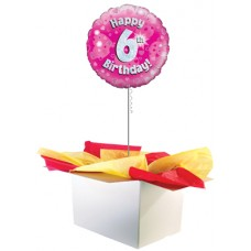 "6th Birthday Girl 18"" Foil Balloon"