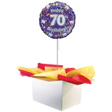 "70th Birthday Multi Colour 18"" Foil Balloon"