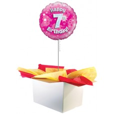 "7th Birthday Girl 18"" Foil Balloon"