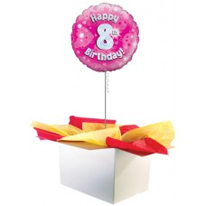 "8th Birthday Girl 18"" Foil Balloon"