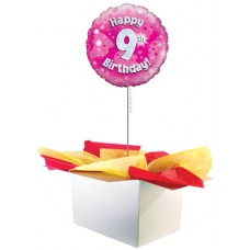 "9th Birthday Girl 18"" Foil Balloon"