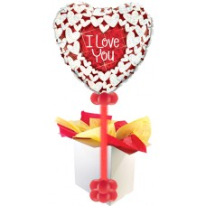 "Love You Glitter Heart GIANT 36"" Balloon!"