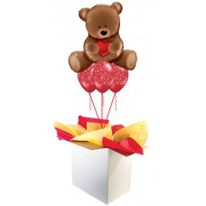 "Teddy Bear Love 35"" Supershape Bouquet"