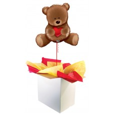 "Teddy Bear Love 35"" Supershape Foil Balloon"
